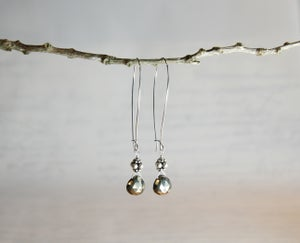 Image of Pyrite Heart Earrings