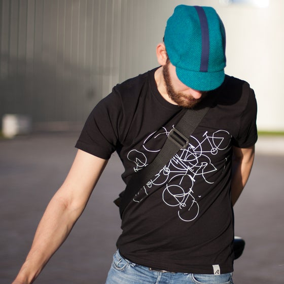 Image of men's cotton bikes t-shirt