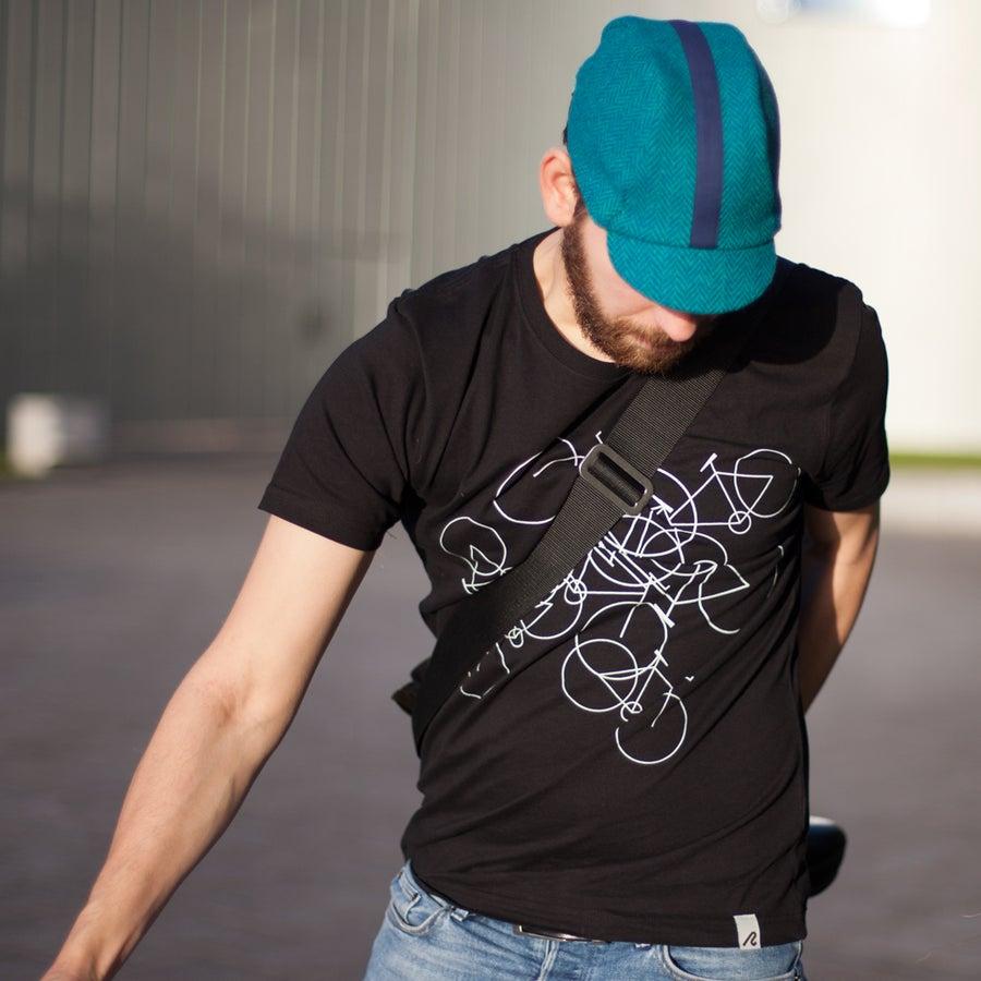 Image of men's cotton bikes t-shirt