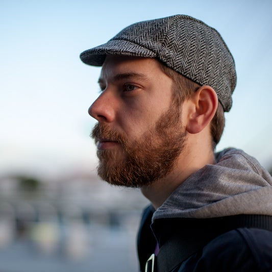 Image of Harris Tweed Classic Cap Grey