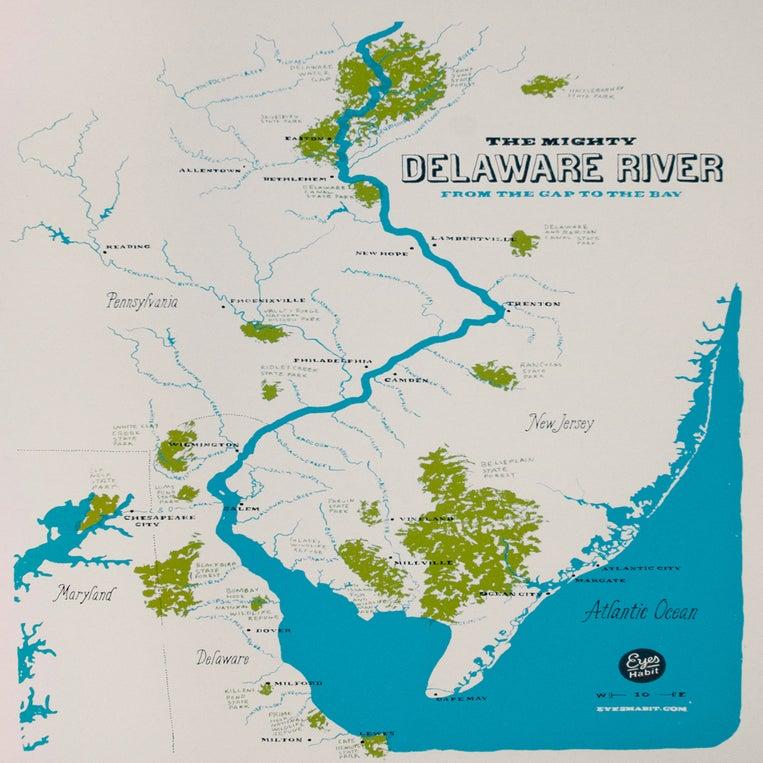Eyes Habit The Delaware River Map