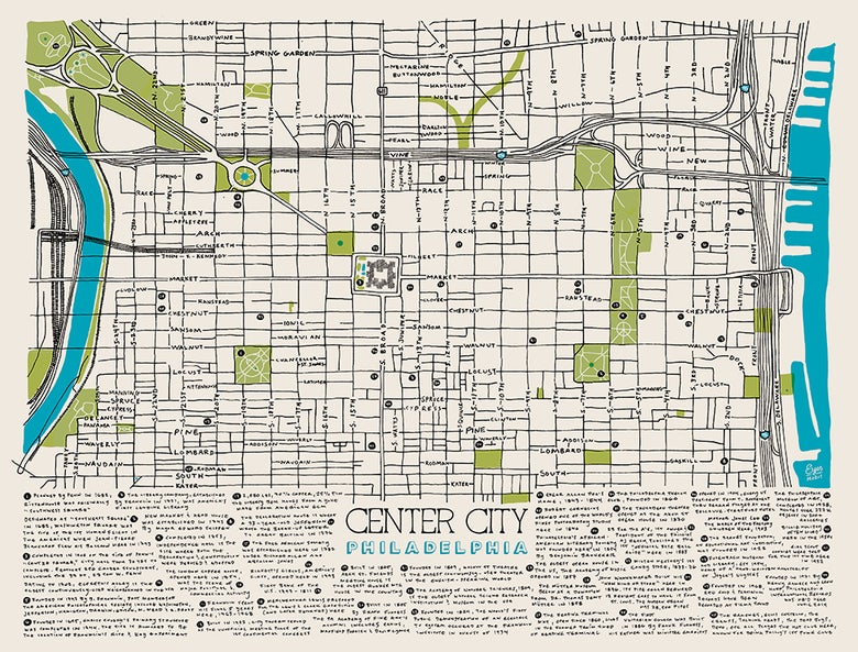 Image of The Center City Map