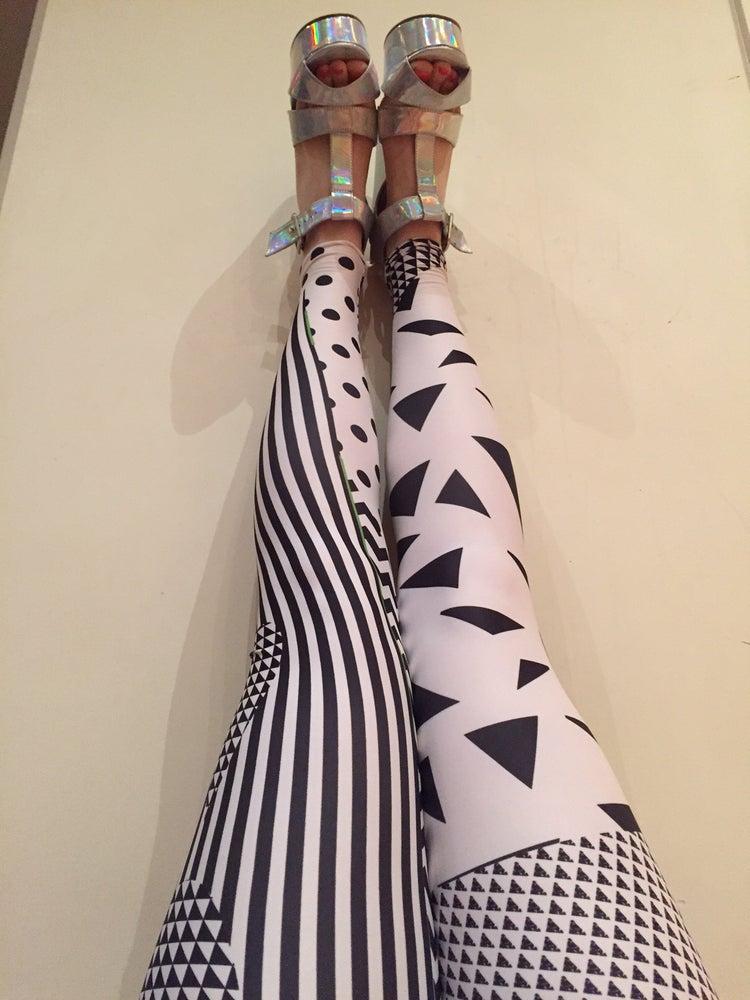 Image of 3 Kinds of Black N White Leggings