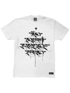 Image of MANTRA SCRIPT T-Shirt   White