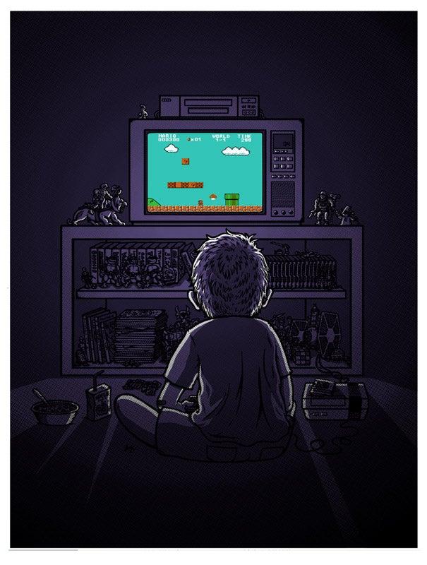 "Image of ""1986"" NES-Kid sticker"
