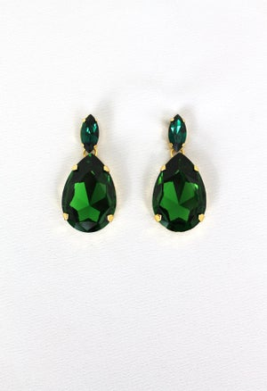 Image of GREEN EMERALD EARRING