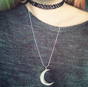 Image of Large Crescent Moon Necklace