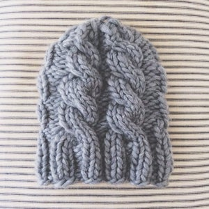 Image of classic cabled stocking hat