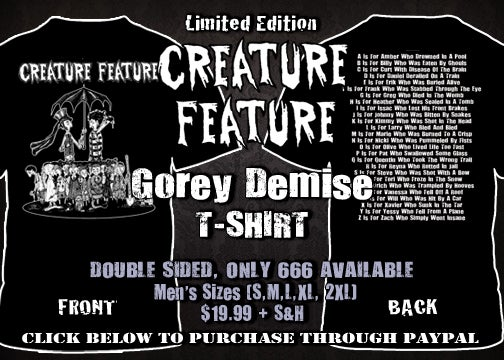 Image of A Gorey Demise T-shirt