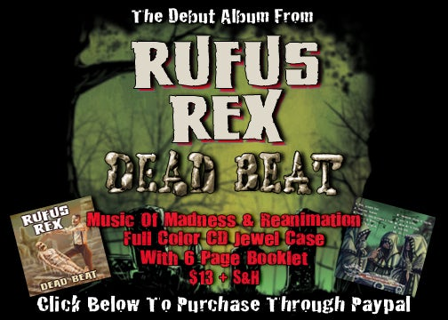Image of Creature Feature Presents: Rufus Rex ~ Dead Beat CD