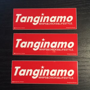 Image of Mini TANGINAMO red box logo stickers