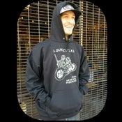 """Image of  """"Heart Mender"""" black HOODED sweatshirt"""