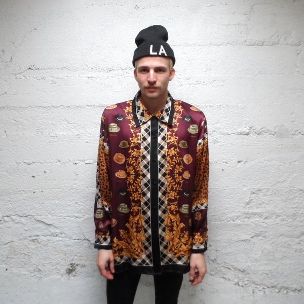 Image of Hats Off... Vintage Silk Shirt
