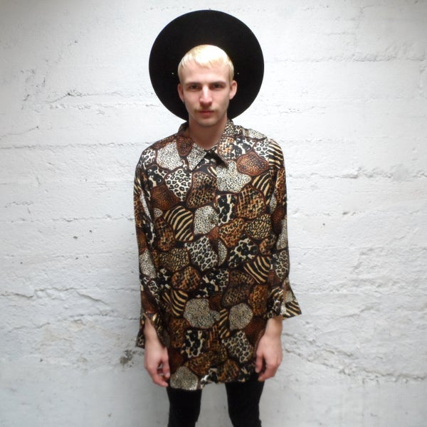 Image of Animal Magnetism... Vintage Silk Shirt