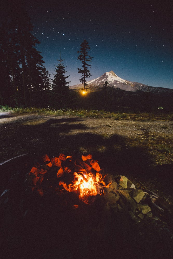 Image of Campfires and Mountains