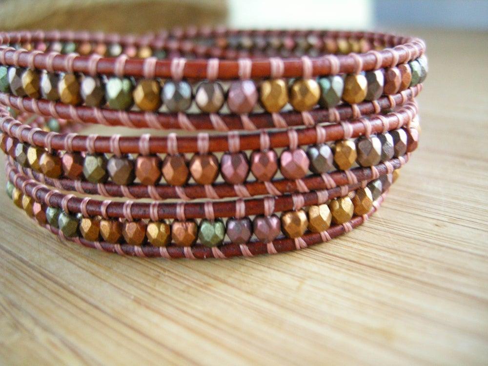 Image of Triple Leather Wrap Bracelet