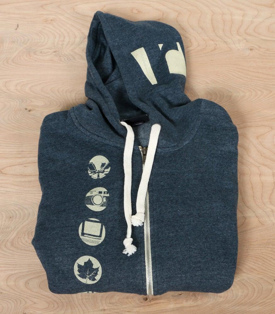 Image of Navy Riverzedge Zip-Up Hoodie