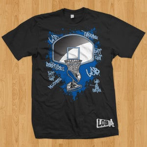 "Image of ""Graffiti"" Tee (Blue on Black)"