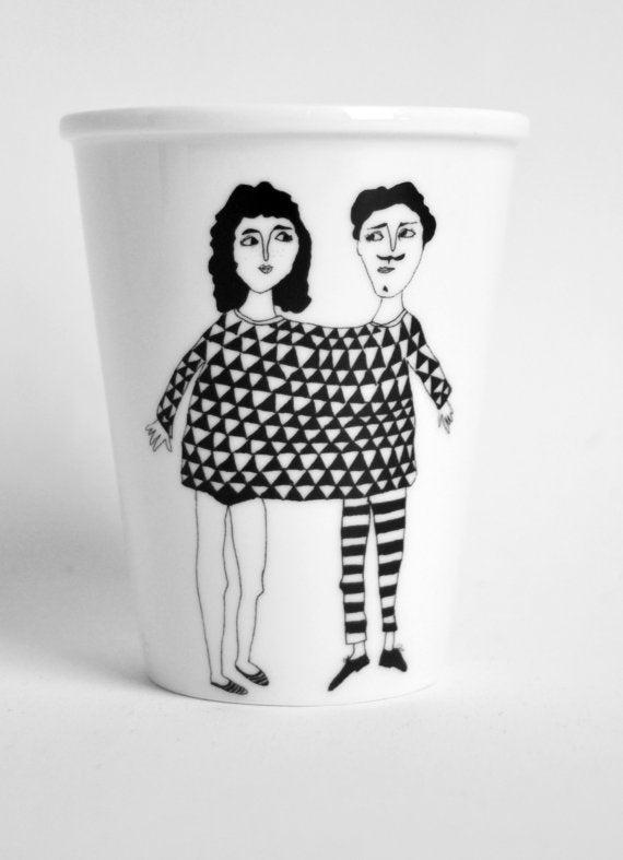 """Image of Gobelet porcelaine """"Happy together"""""""