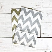 Image of Metallic Chevron Gusset Bags
