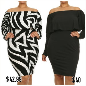 Image of Ruffle Overlay Off the Shoulder Bodycon (PREORDER)