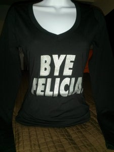 Image of BYE FELICIA Tee Longsleeve Black with silver shimmer