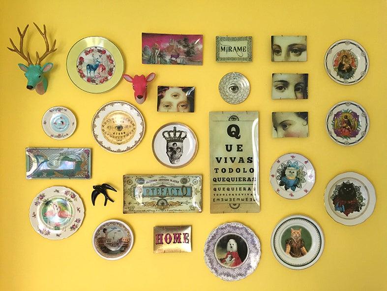 Image of Kingnientas - Vintage Porcelain Plate - King Kong #0446