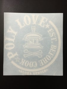"Image of Poly Love 8"" Poly Love White sticker"