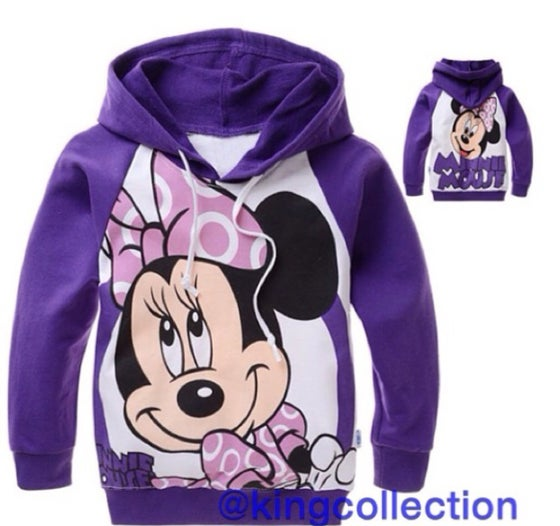 Image of Girls Purple Minnie Mouse Hoodie