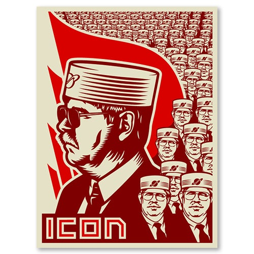 Image of Icon One Man Army Poster Red