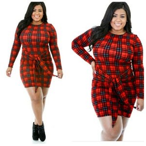 Image of Checkmate Knotted Dress