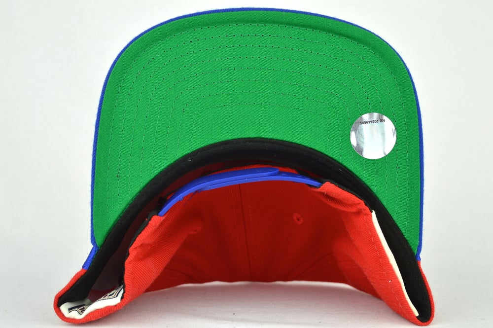 Image of DETROIT PISTON RED & BLUE MITCHELL & NESS SHARKTOOTH SNAPBACK
