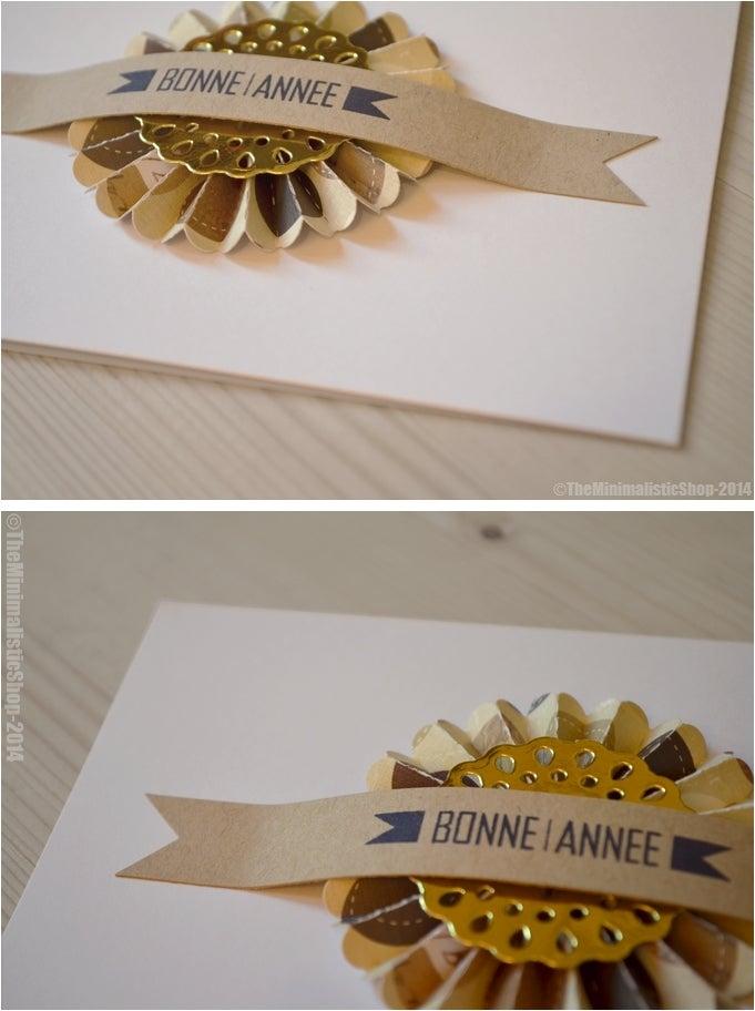 """Image of Carte de voeux """"Bonne Année"""" à la cocarde doré"""