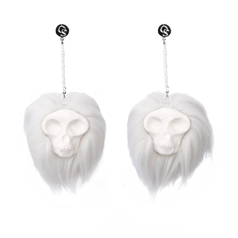 Image of Ghoul Earrings (White)