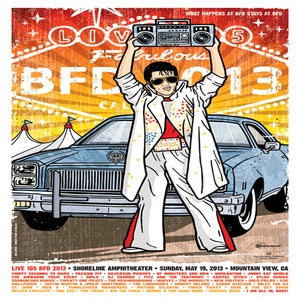 Image of Live 105 BFD 2013 Poster