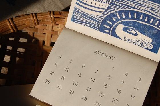 Image of 2015 Hand-Printed Calendar