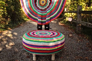 Image of Dream Catcher Ottoman and Blanket PDF Pattern