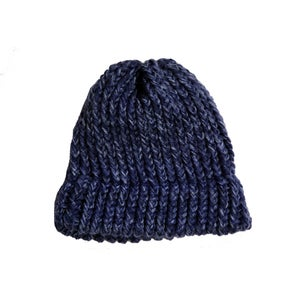 Image of Heather Blue knit beanie