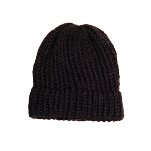Image of Black knit beanie