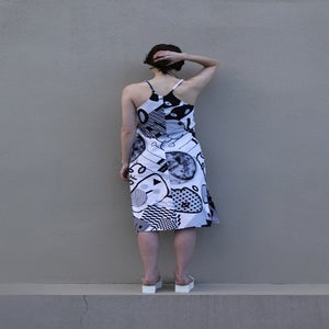Image of Pareidolia Slip Dress - Greyscale