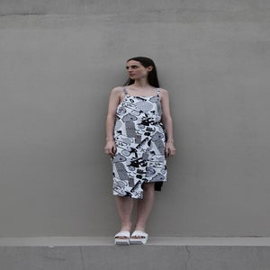 Image of Unity Wrap Dress (reversible) - Greyscale
