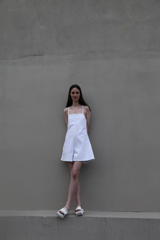 Image of Planet Playsuit - White
