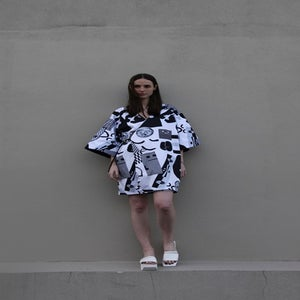 Image of Travel Kimono (reversible) - Greyscale