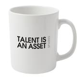 Image of Sparks Talent Is An Asset Lyric Mug