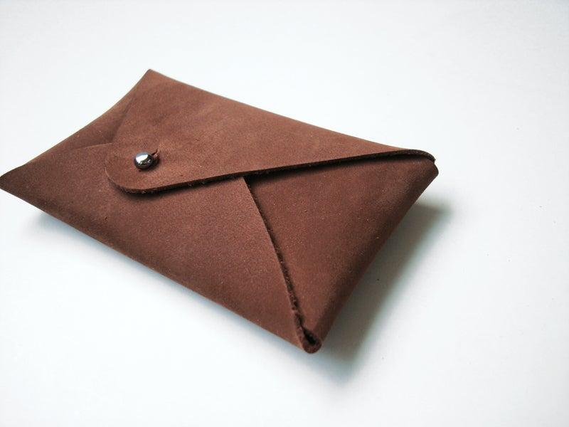 Image of Mt. Fuji cardholder choco brown