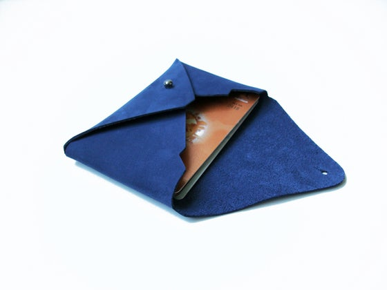 Image of Mt. Fuji cardholder blue