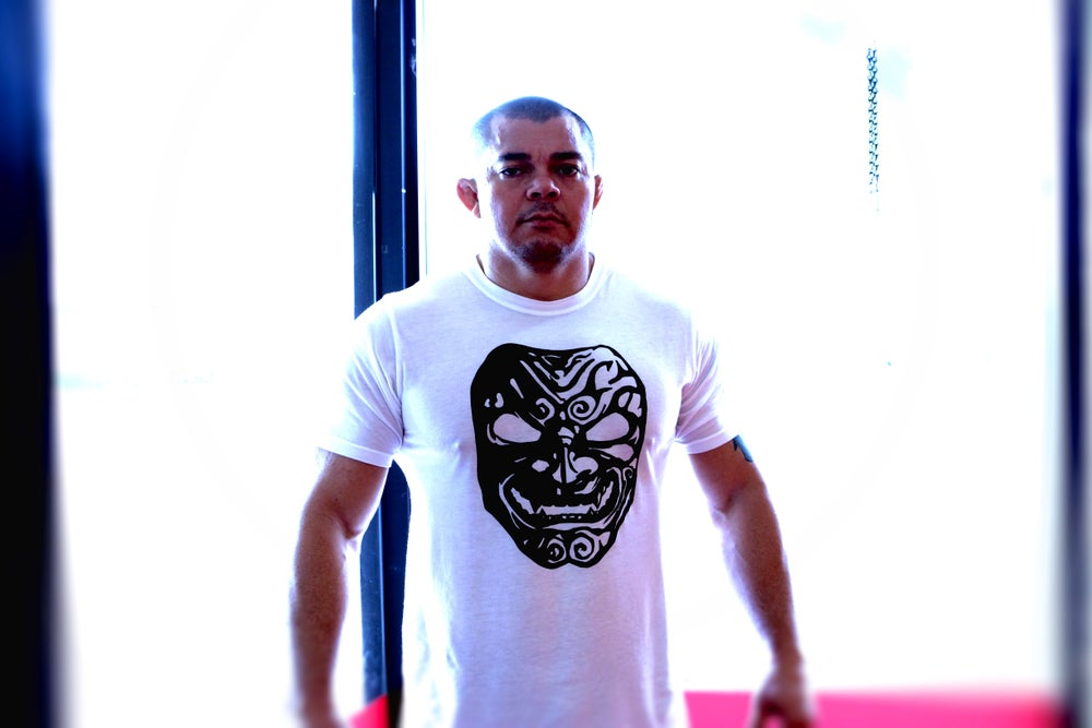 Image of Demon Mask Crew Shirt White Mens