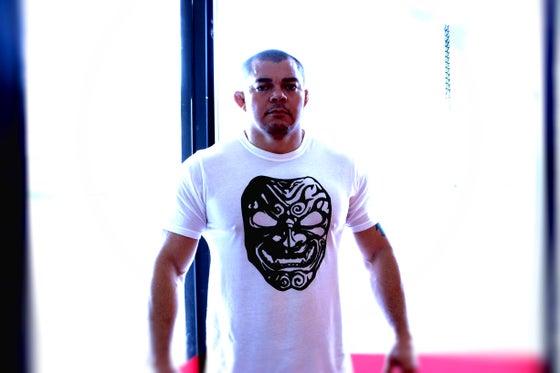 Image of Demon Mask Crew Shirt White Mens