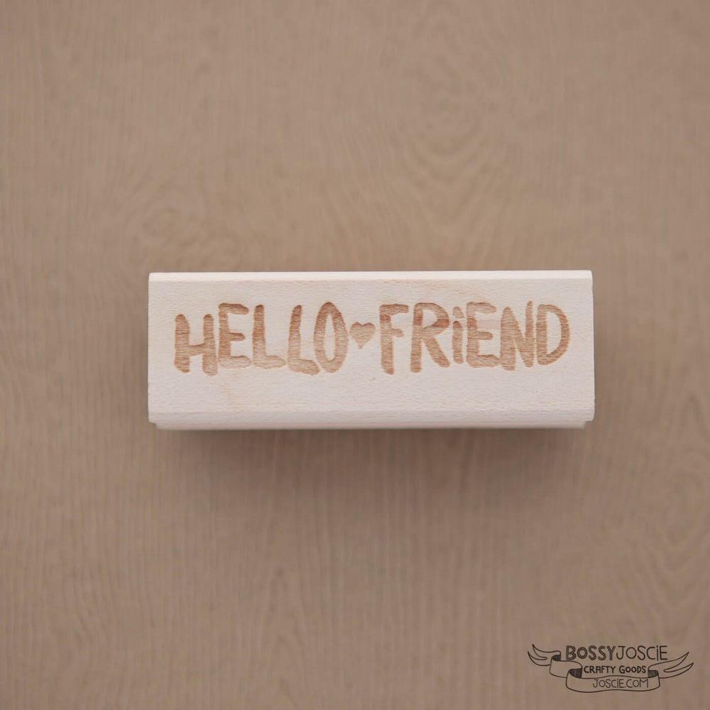 Image of Hello Friend Brush Stamp