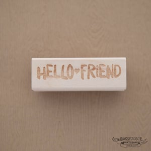 Image of Hello Friend Brush Stamp